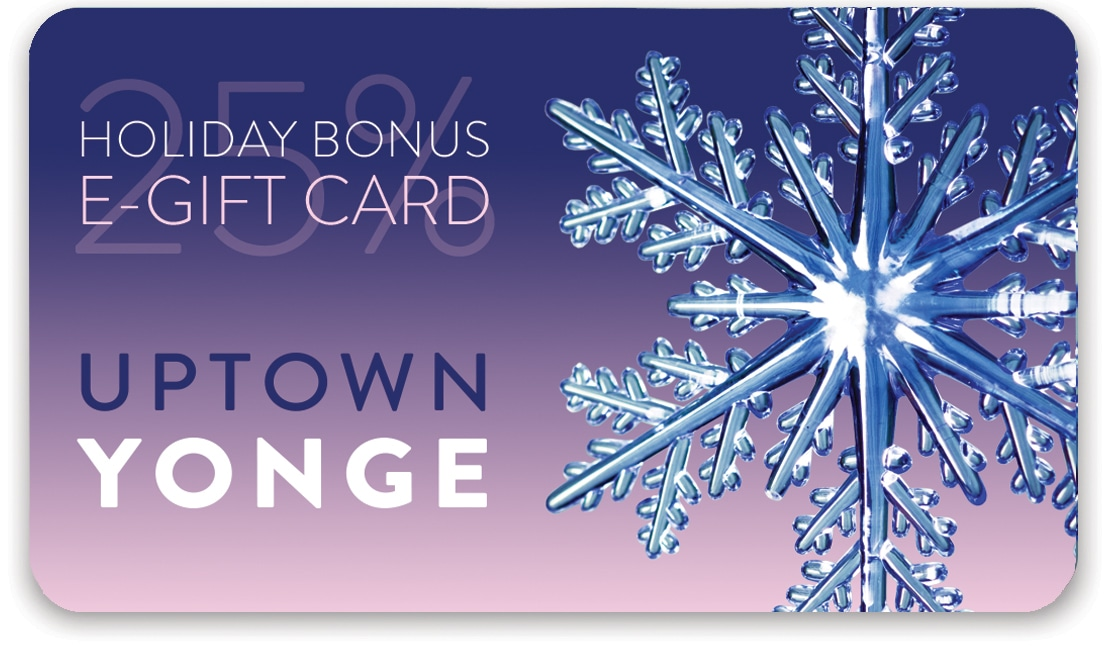 25% Holiday Bonus e-Gift Card